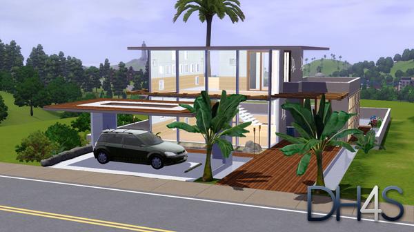 47 rue de la moderne for Maison moderne sims 3