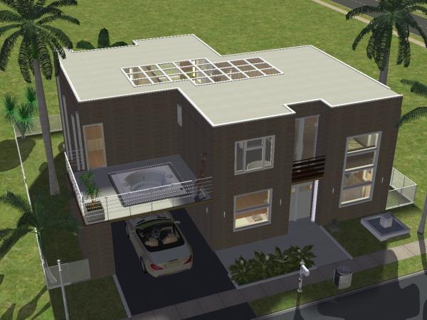 Maison 14 for Modele maison sims 2