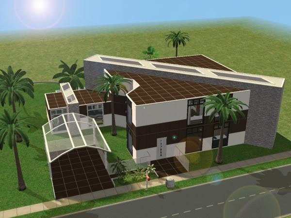Maison 5 dh4s for Sims 4 maison moderne